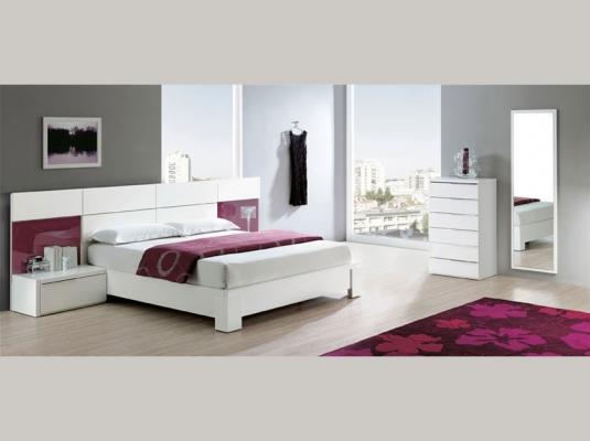 Habitacion matrimonio moderna dormitorio moderno blanco for Habitaciones modernas para matrimonios