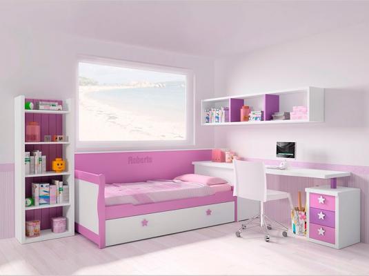 Dormitorios juvenil moderno en gris y naranja - Muebles de dormitorios modernos ...
