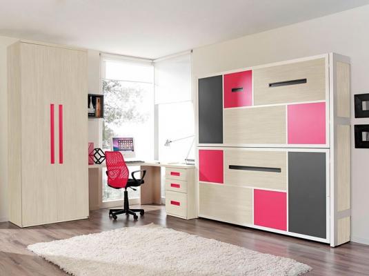 Snafab.com  Dormitorios Juvenil Moderno En Gris Y Naranja
