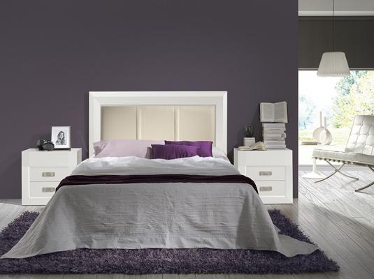 Salones y dormitorios neva dormitorios de matrimonio - Dormitorio colonial blanco ...