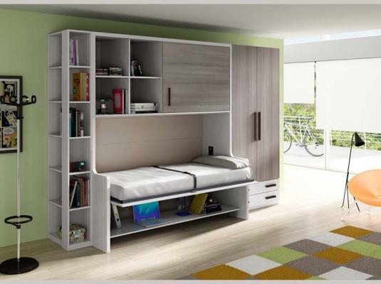 Dormitorios juveniles abatibles y literas lab dormitorios for Muebles juveniles abatibles