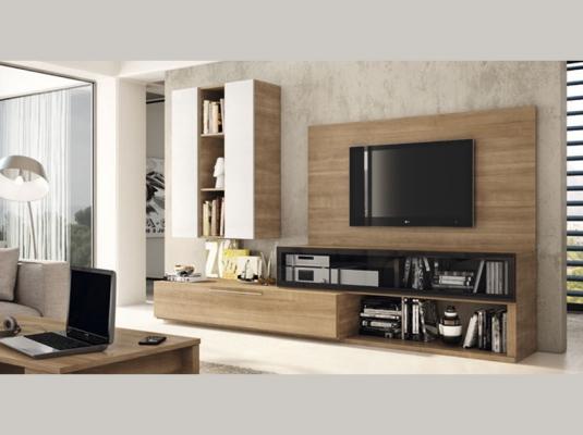 Salones modernos acqua salones comedores muebles modernos - Muebles de salon modulares de madera ...