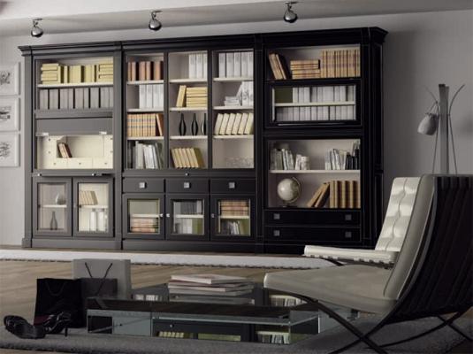 Muebles de salones classic salones comedores muebles - Muebles bibliotecas modernas ...
