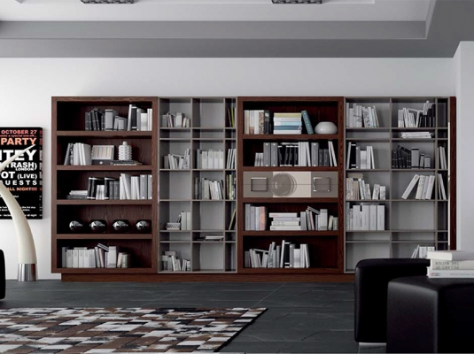 de Biblioteca Z140 de muebles para salón modernos BAHUAUS