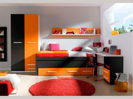 Dormitorios juveniles basic dormitorios juveniles muebles for Dormitorios juveniles compactos modernos