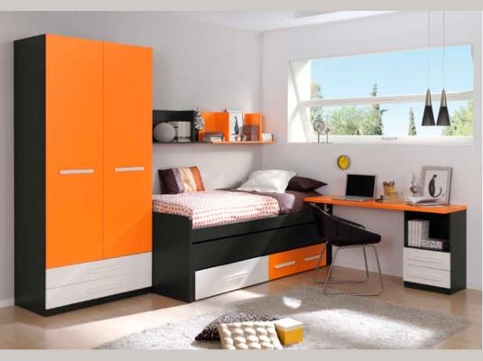 Dormitorios juveniles basic dormitorios juveniles muebles for Dormitorio juvenil compacto