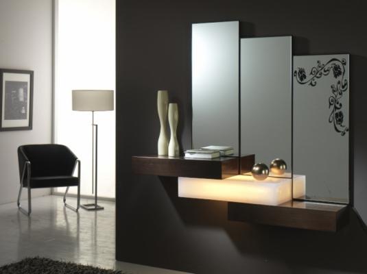 Recibidores serie dedalo muebles auxiliares muebles for Muebles modernos precios