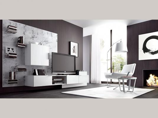 Voor woonkamer slaapkamer tv achtergrond muur wit beige grijs quotes quotes - Slaapkamer lay outs ...